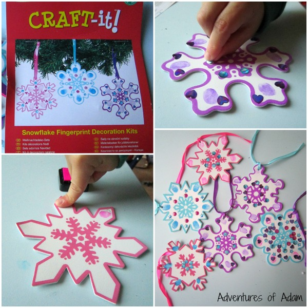 Baker Ross Snowflake Fingerprint Decoration Kit