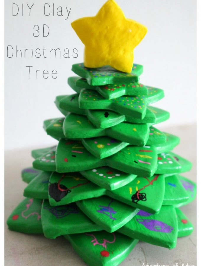 DIY Clay 3D Christmas Tree