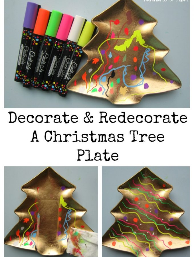 Chalkola: Decorate and Redecorate A Christmas Tree Plate