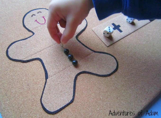 Fine motor Gingerbread man addition