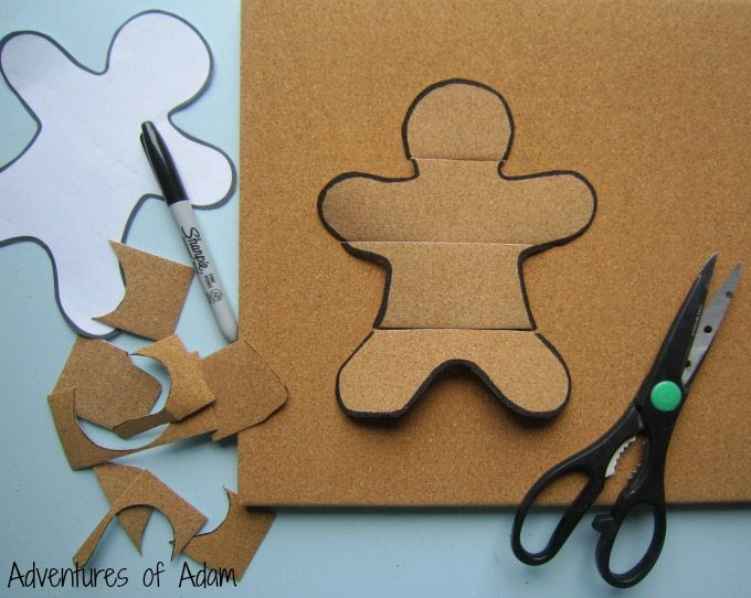 Gingerbread Man made from Cork Duck Tape