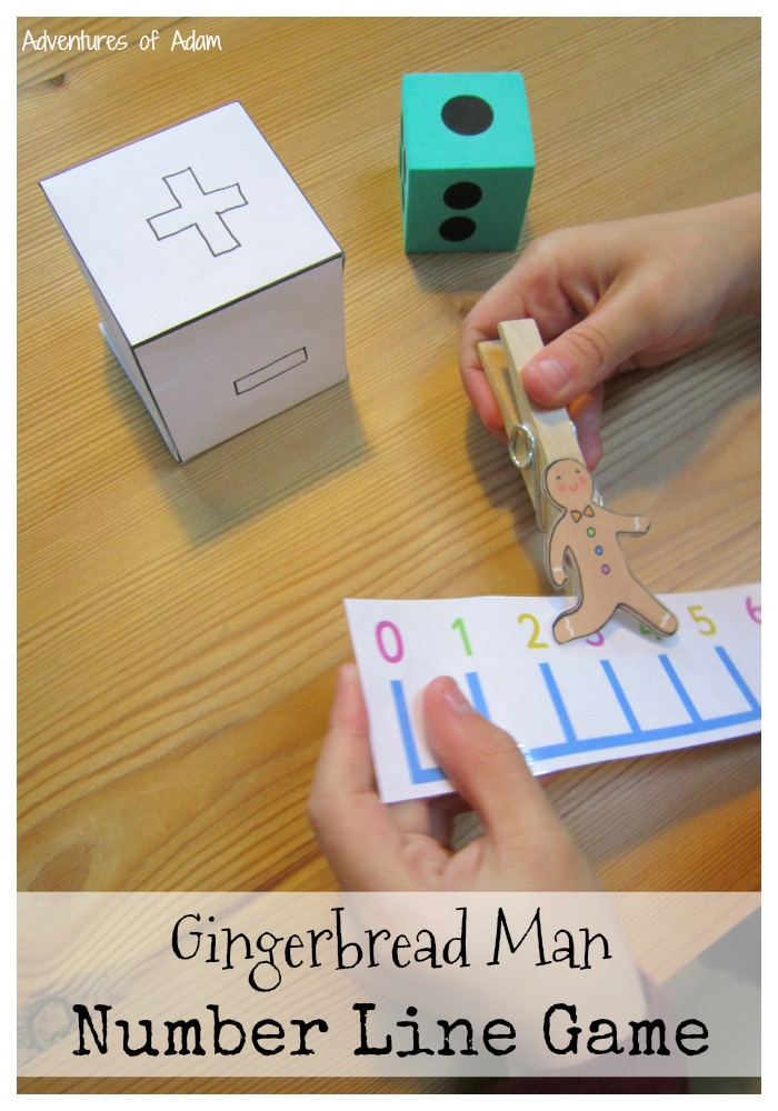 Gingerbread Man Number Line Game
