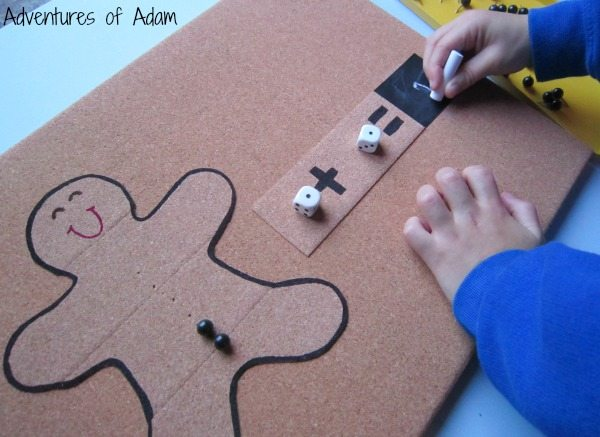 Hands on addition using Gingerbread Man
