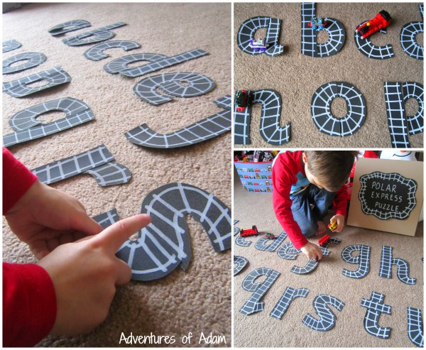 Homemade Polar Express Letter Puzzle