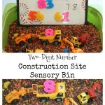 Number Construction Site Sensory Bin