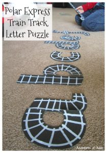 Polar Express Train Track Letter Puzzle