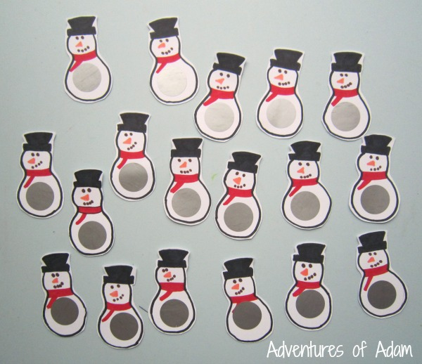Sight word snowman game