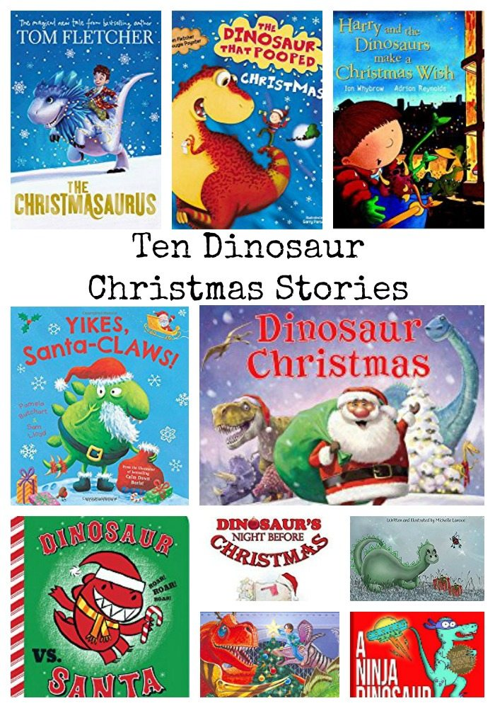 Ten Dinosaur Christmas Stories for the festive period