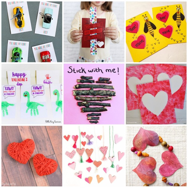 9 Valentine Cards and crafts from kidscrafts101