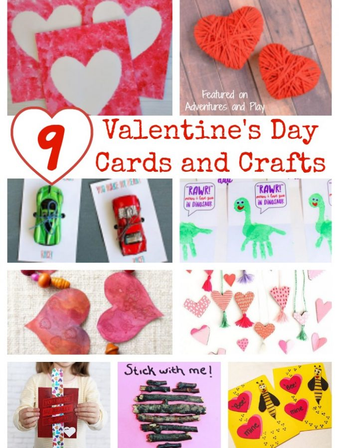 9 Valentine's Day Cards and Crafts