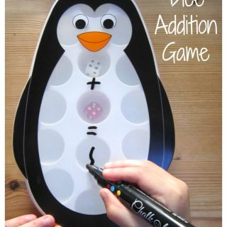 Penguin Dice Addition Game