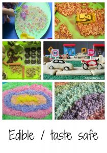 Edible and taste safe play activities