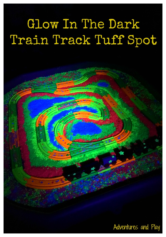 Glow In The Dark Train Track Tuff Spot