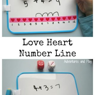 Love Heart Number Line