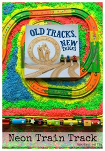 Old Tracks New Tricks Neon Train Track