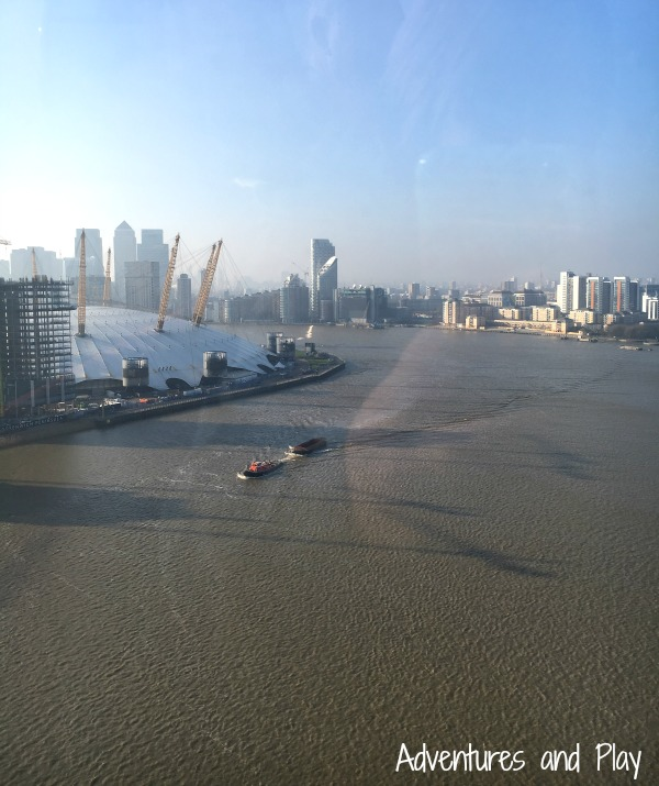View from Emirates Airline London