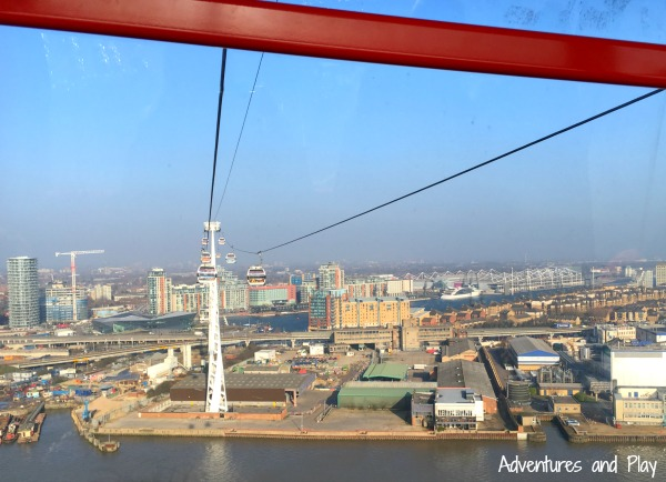View from London cable cars