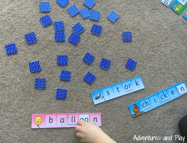 Ways to play with Orchard Toys spelling game