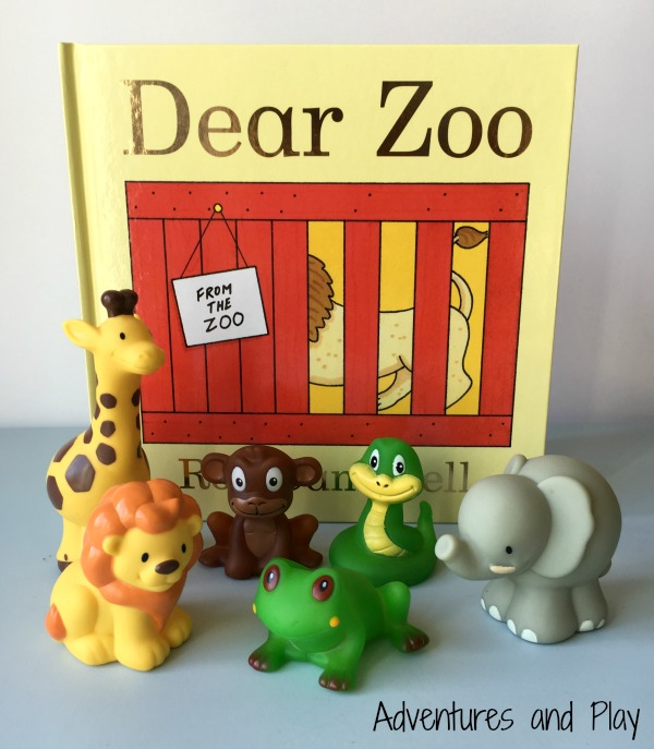 Dear Zoo invitation to play