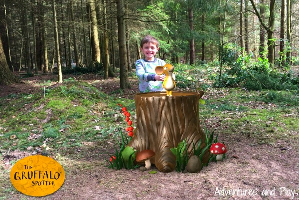 Gruffalo Spotter app mouse at Thetford Forest
