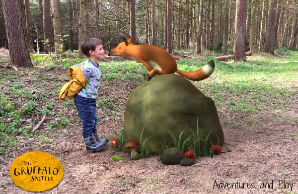 Gruffalo Spotters app fox at thetford forest