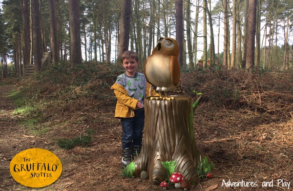 Owl in Gruffalo Spotters App at Thetford Forest