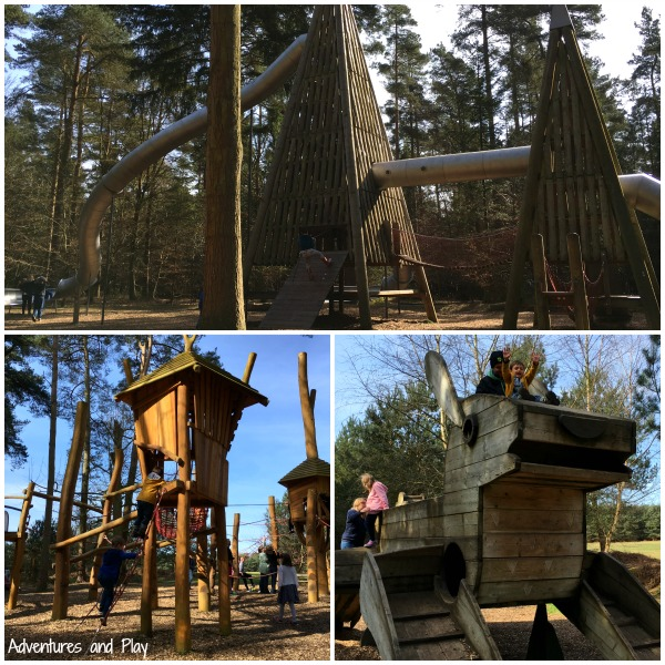 Play equipment at Thetford Forest