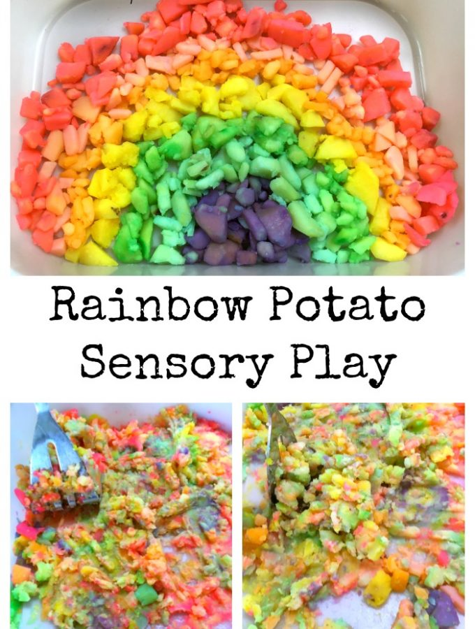 Taste Safe Rainbow Sensory Play