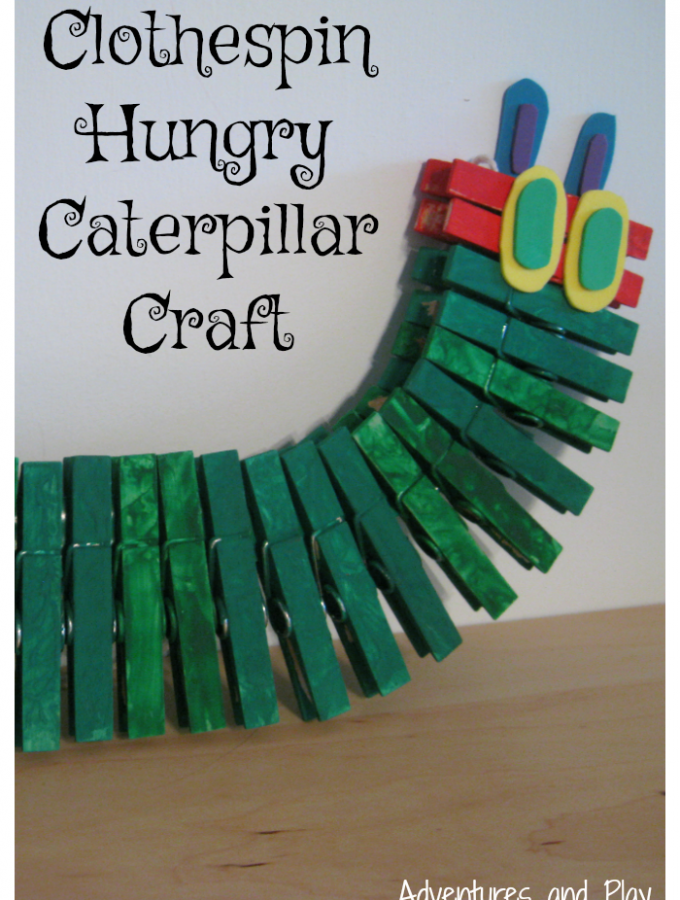 Clothespin Hungry Caterpillar Craft