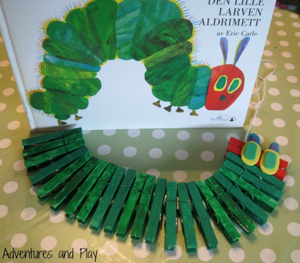 Clothespin The Very Hungry Caterpillar