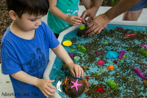 Decorate a hermit crab shell play activity
