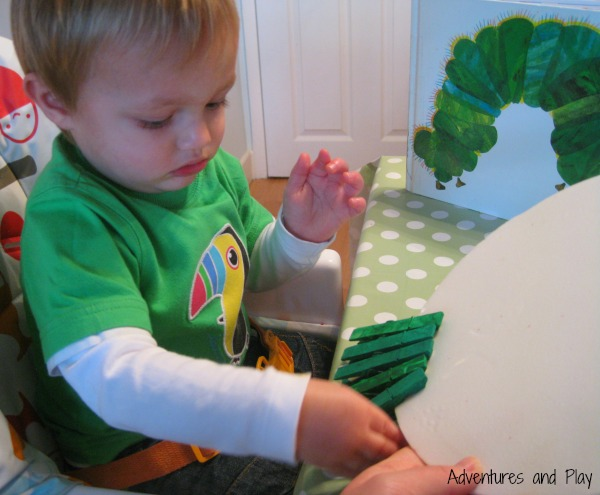 Fine motor skills and The Very Hungry Caterpillar
