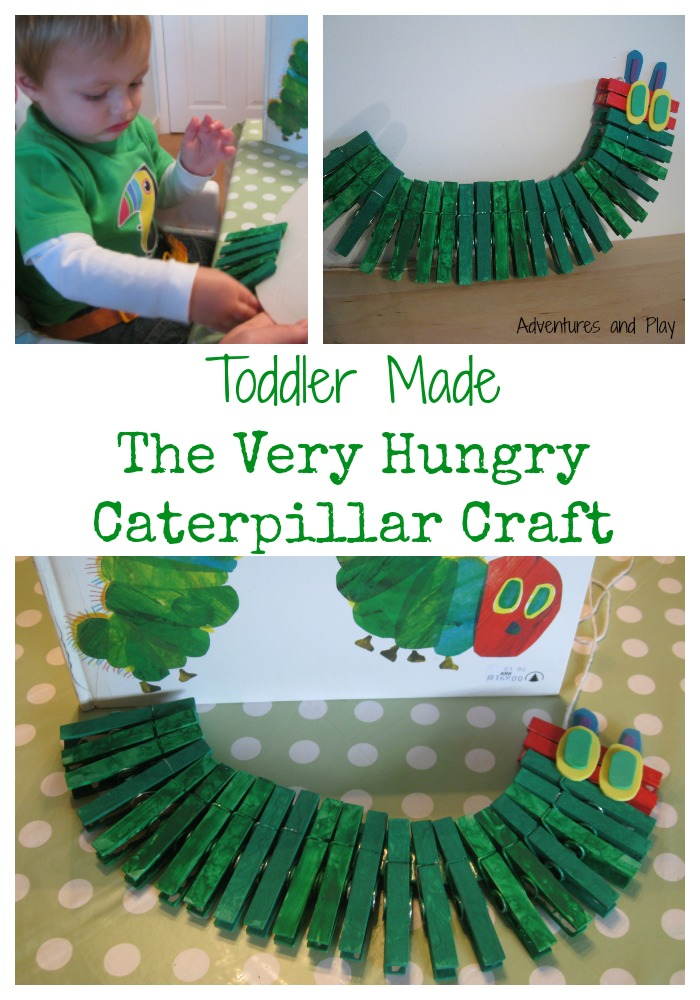 Toddler made the very hungry caterpillar craft