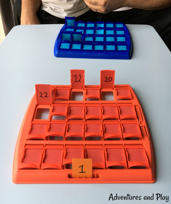 Guess Who with numbers simple math activity