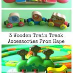 3 Wooden Train Track Accessories From Hape