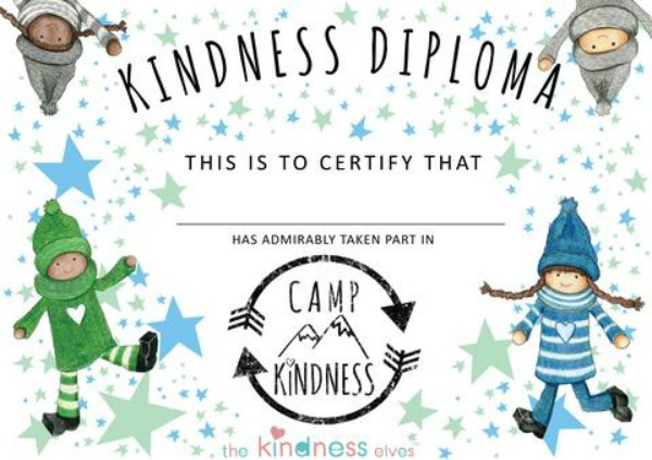 Camp Kindness Diploma