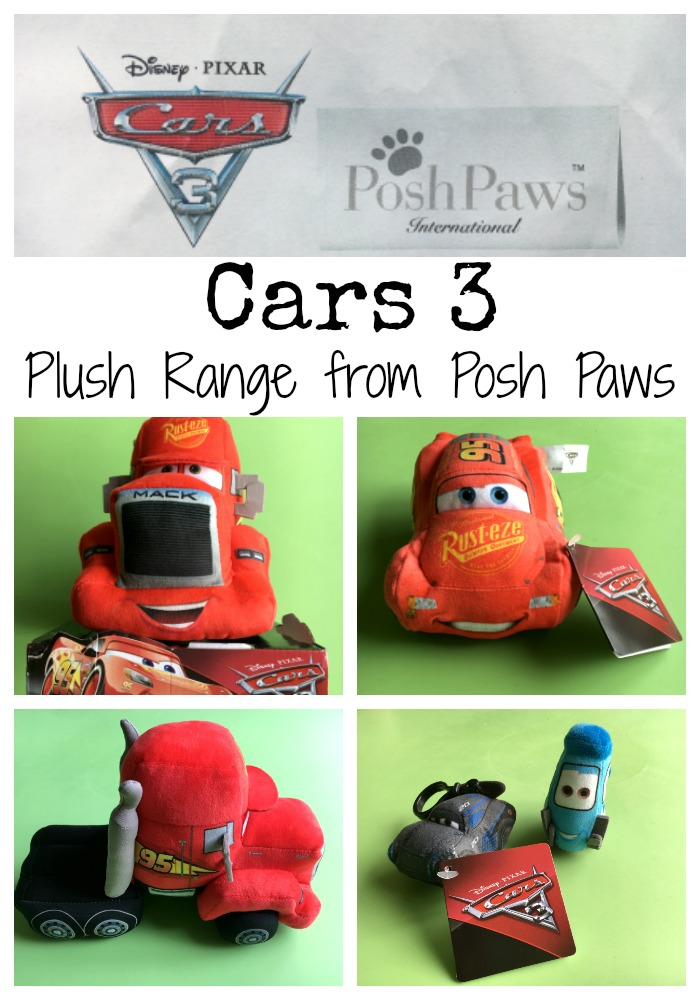 Cars 3 Plush Range from Posh Paws