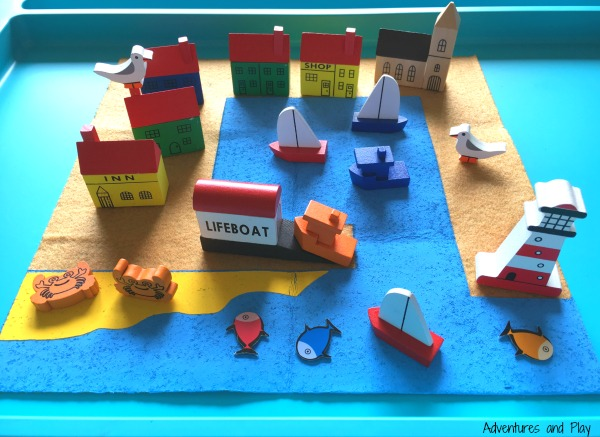 Fishing port in a tin small world