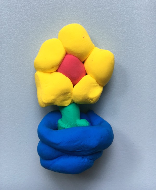 Light clay flower