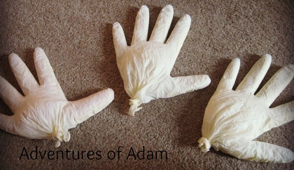 Adventures of Adam toddler play sensory gloves