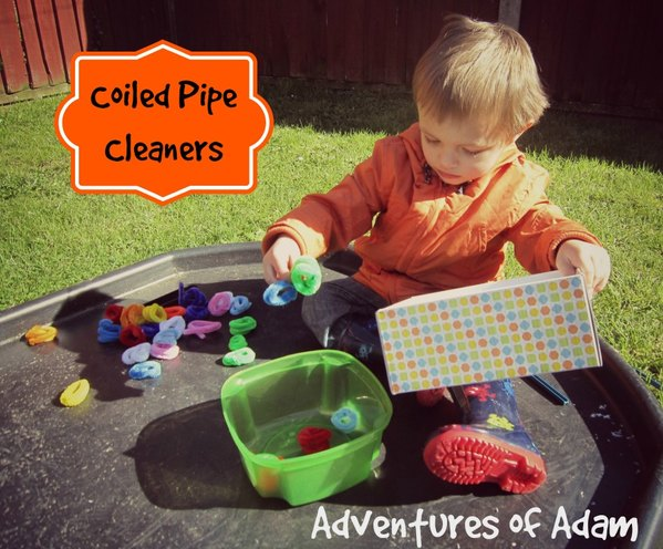 Adventures of Adam coiled pipe cleaner drop tuff spot