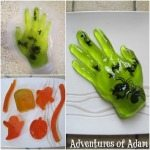 Adventures of Adam how to make a Halloween Jelly Hand