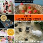 Adventures of Adam Day 15 Scented Play Dough 31 day sensory play challenge