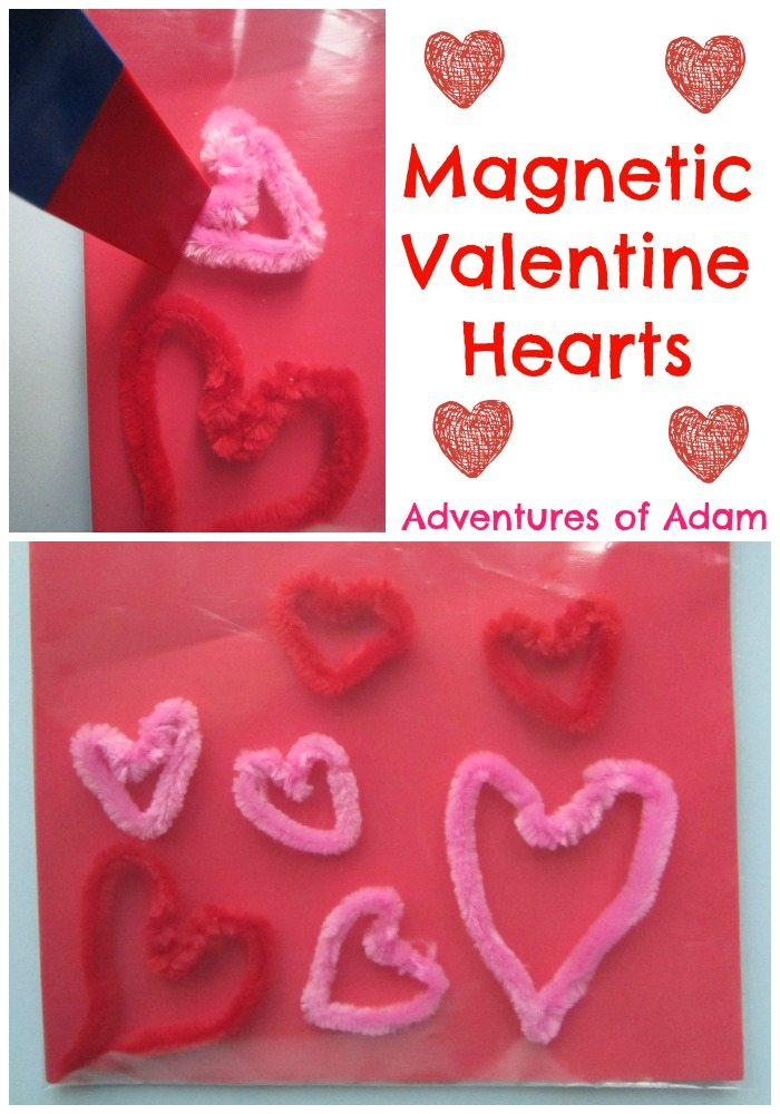 Magnetic Valentine Hearts Adventures of Adam