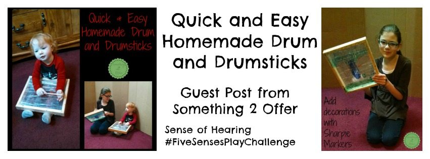 Adventures of Adam Quick and Easy homemade drum and drumsticks