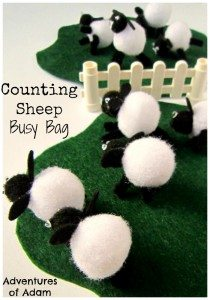 Counting Sheep Busy Bag Adventures of Adam