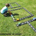Adventures of Adam Outside car track
