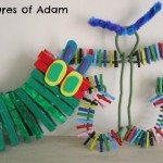Adventures of Adam Peg Hungry Caterpillar and butterfly