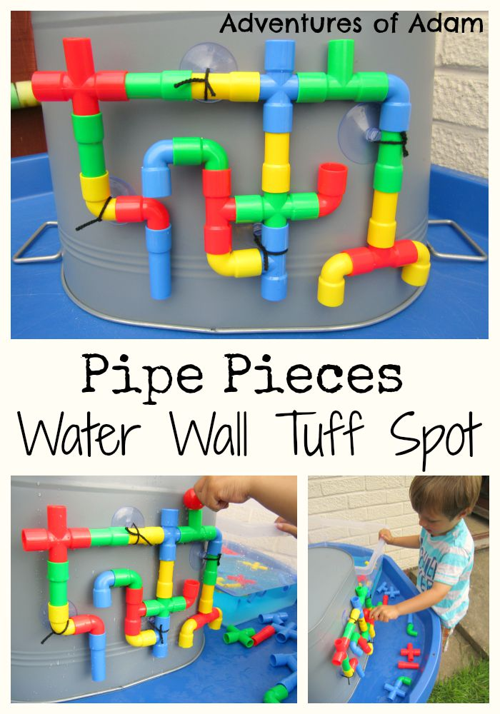 Pipe Pieces Water Wall Tuff Spot Adventures of Adam