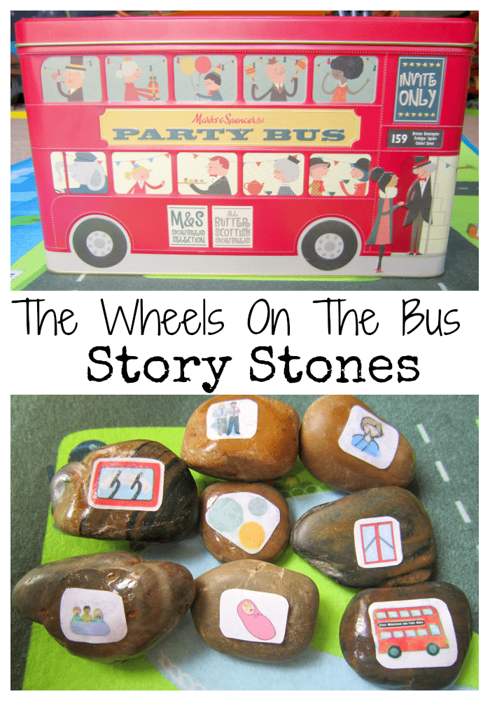 Adventures of Adam Wheels on the bus story stones